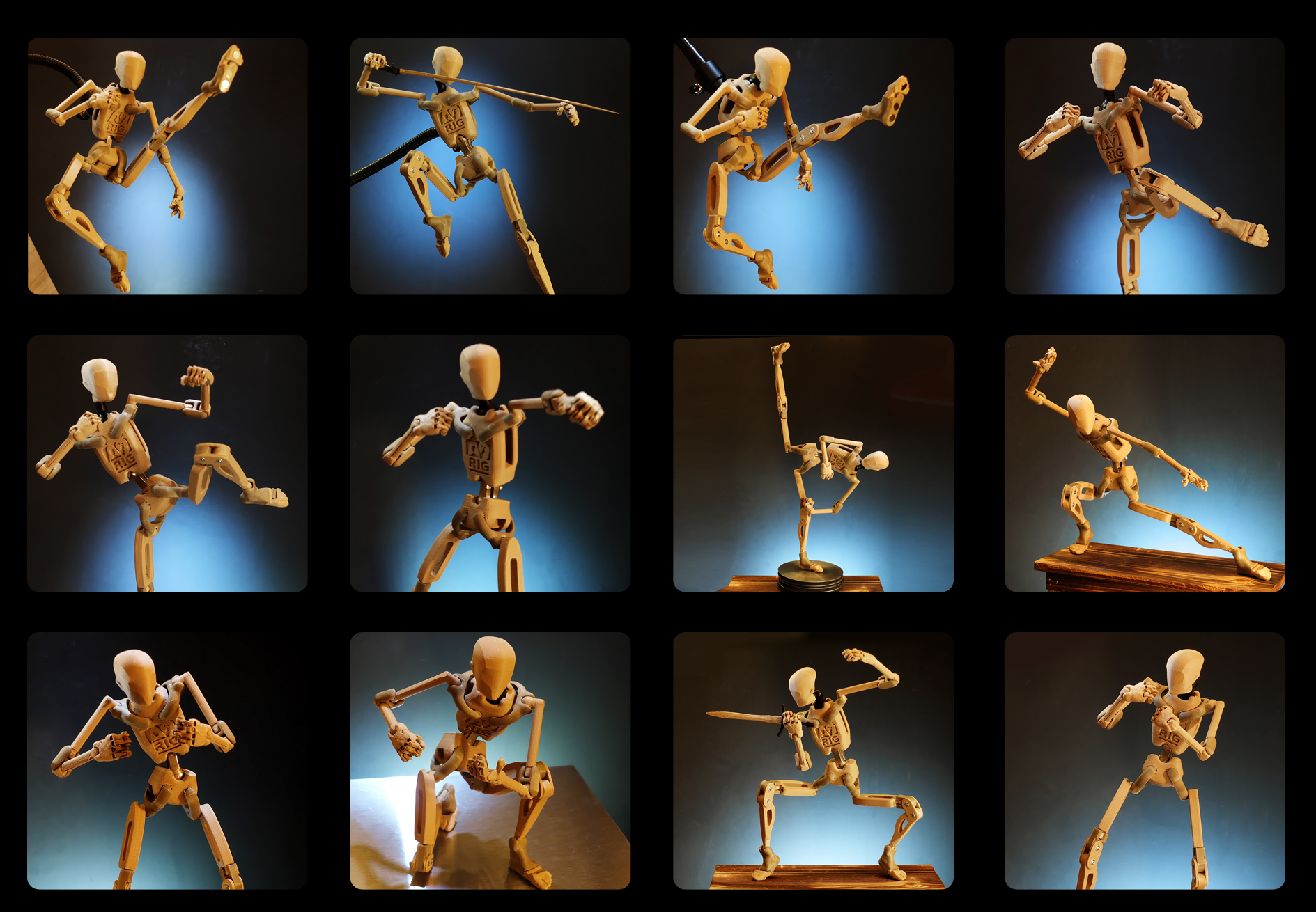 Armature Nine Combat Poses