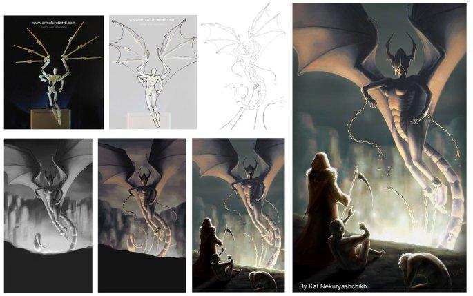 fantasy images for art manikin contest by Kat Nekuryashchikh